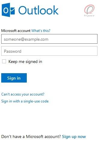 آموزش ساخت اکانت مایکروسافت (Hotmail و Outlook)