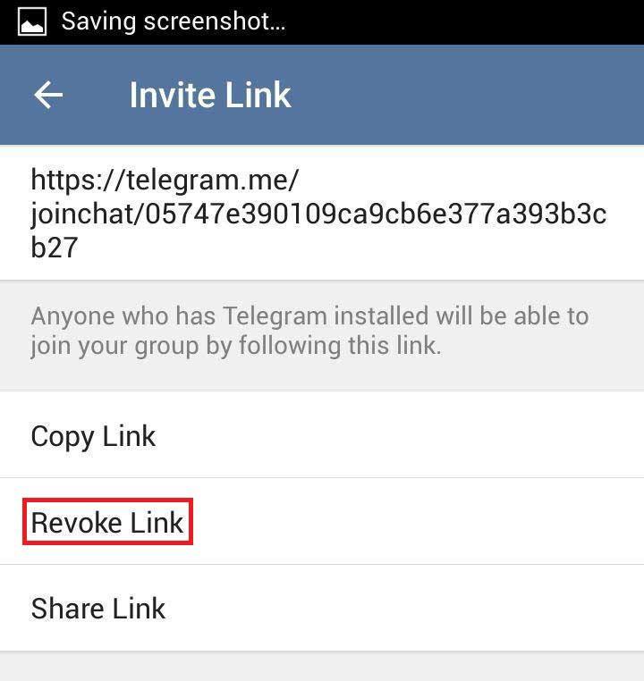 چگونه لینک گروه تلگرام را عوض کنیم