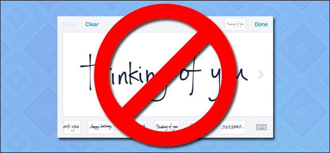 How handwritten interface to turn off iMessage (1)