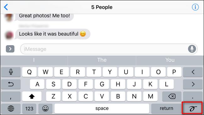 چگونه رابط کاربری دستنویس را در iMessage خاموش کنیم