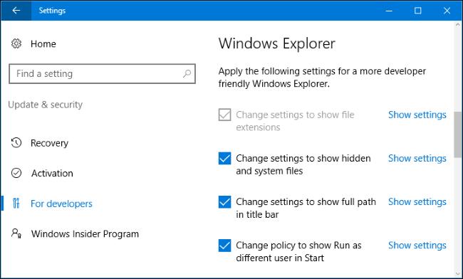 Developer Mode در ویندوز 10 چیست؟