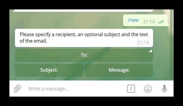 آموزش ارسال ایمیل توسط تلگرام